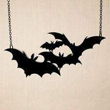 Powerful Vampire Bat Acrylic Statement Necklace Xmas Gift Gothic Witch Rebel