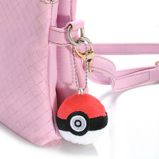Hot Charms Pokemon Poke Ball Plush Doll Soft Stuffed Toy Handbag Key Chain Gift