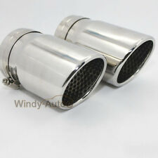 2PCS Chrome Car Exhaust Muffler Tip For VW Golf 6 MK6 2009 2010 2011 2012 2013+