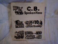 1974 C.B. C.B.'ers VINYL SIGNS CONNECTED,Beaver On My Mind,That's A Big 10 4