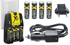 4AA BATTERY + DUAL CHARGER FOR FUJIFILM FINEPIX S3300 S3350