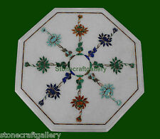 """1.5"""" Coffee Table Top Marble Pietra dura Handmade Home Decor and Gifts"""