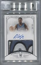 2014/15 National Treasures Rookie Patch Autograph Andrew Wiggins BGS 9 MINT