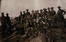 """ Buffalo Soldiers "" 9th Cavalry African American, Black Men, Civil War Postcard"