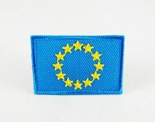 EU EUROPEAN UNION FLAG MEDIUM IRON SEW ON PATCH EMBROIDERED APPLIQUE T-SHIRT HAT