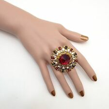 Indian Asian Bridal Jewellery Bollywood Party Ethnic Wear Adjustable Ring