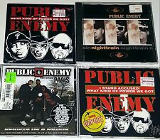 PUBLIC ENEMY 4 SEALED CD LOT IMPORT Rap PETE ROCK Chuck D nwa wu tang dj lp 12""