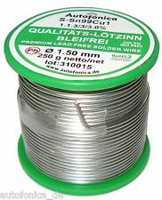 Qualität Lötzinn bleifrei 1,5mm 250g nach DIN Sn99Cu1 Lötdraht Lead free Tin
