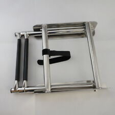 Newest S.S 2-Step Slide Mount Boat Boarding Ladder Telescoping Fishing Ladder