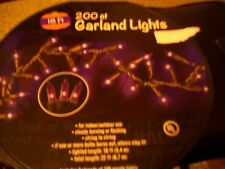HALLOWEEN 200 PURPLE GARLAND LIGHTS INDOOR/OUTDOOR 18 FT. STRING LIGHTS