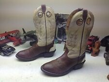 VINTAGE MADE IN CAANADA BOULET BROWN BUCKAROO LEATHER WESTERN ENGINEER BOOTS 10E