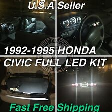 Eg Ej Full Led kit sedan Coupe 92-95 Honda Civic White Led