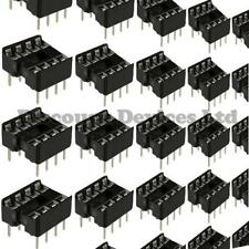 10x 8 Pines Rohs Pcb Ic Socket dil/dip 8 0,3 ""