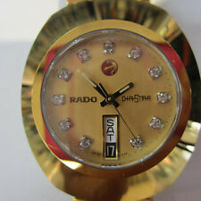 RADO DIASTAR MEN'S WATCH AUTOMATIC SAPPHIRE ALL S/S GOLD ORIGINAL R12413493 NEW