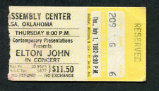 1982 Elton John Quarterflash concert ticket stub Tulsa Oklahoma Jump Up