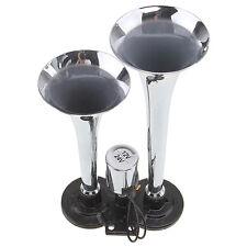 Chrome Metal Truck Air Horn Horns Train 120 Dual Trumpet Insane Super Loud 150DB