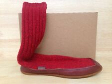 Acorn Mismated Unisex Slipper Sock Red Ragg Wool US Size RtXS/LfS