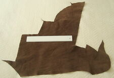BROWN PIGSPLIT SUEDE LEATHER REMNANT -ELBOW PATCHES,REPAIRS   #2474