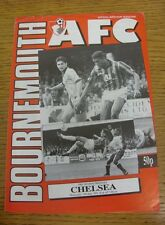 29/07/1992 Bournemouth v Chelsea [Friendly] (Creased, Four Pages).  We are pleas