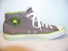 ALL STAR CONVERSE EUC SUICIDE GRAY / LIME SIZE 10 / 44 M HIGH TOP