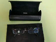 Prada Eyeglasses Glasses Prescription Womens Frame VPR01I 2AU101 Gold Tortoise