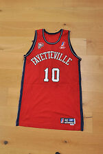 Omar Cook game used NBDL basketball jersey. fayetteville patriots.Star in Europe