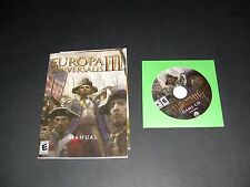 Europa Universalis III Software, CD, Booklet, Poster