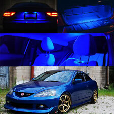 02-06 Acura RSX DC5 Blue Xenon Inside LED Bulb Full Package Map Dome Trunk Plate