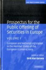 Law Practitioner: Prospectus for the Public Offering of Securities in Europe...