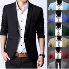 Fashion Men Casual Slim Formal One Button Suit Blazer Stylish Coat Jacket Tops