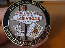 USAF Nellis AFB LAS VEGAS Home Of The Fighter Pilot F15 F16 F22 Challenge Coin
