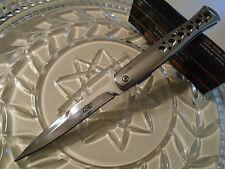 """Tac-Force Assisted Open Chrome Steel Gangster Stiletto Dagger Pocket Knife 9"""" Op"""