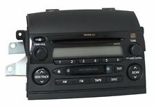 2005 Toyota Sienna OEM AM FM Radio Cassette CD Player Part 8620AE010 Face 16839