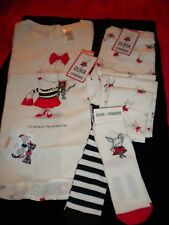 NWT Olivia the Pig Gymboree Girls SZ 10  Ivory Pants & SS Shirt with Accessories