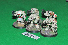 dark angel space marine deathwing terminator squad 5 (5035) painted metal warham