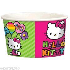 HELLO KITTY Rainbow ICE CREAM CUPS (8ct) ~ Party Supplies Birthday Treat Dessert