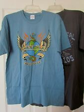 Universal Studio Singapore NEW Adult T-shirt lot LARGE Blue Gray Dragon distress