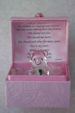 SISTER@Cute Especial Caja Oso & verse@22KT Gold@Unique Regalo Set@Bridesmaids @FAVOR