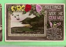 #C. 1909 POSTCARD - FROM BRISBANE TO HOBART, ROSES