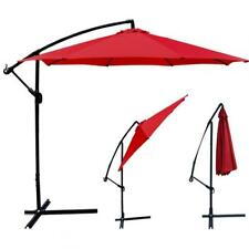 Red Patio Umbrella Offset 10 Hanging Umbrella Outdoor Market Umbrella D10
