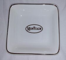 RARE BONE CHINA THE MONTCALM LONDON Advertisement ASHTRAY Wedgwood England 4034