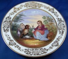 Antique Porcelain de Paris Scenic Plate Porcelaine Assiette Vieux Scene French