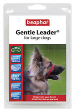BEAPHAR GENTLE LEADER FOR LARGE DOGS, L, RED LEAD