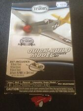 TESTORS QUICK BUILD P51 MUSTANG WITH PAINT BRUSH + DECAL + 3 PAINTS 1/72 KIT