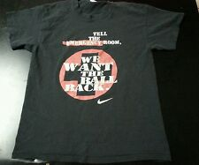 Vintage 1990s Nike Grey Tag Basketball Tshirt size Large Made in USA trash talk.