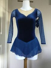 Icings New CL NAVY TEST COMPETITION ICE ROLLER SKATING DANCE BATON DRESS