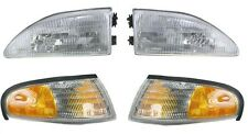 1994 - 1998 FORD MUSTANG W/O COBRA HEADLIGHTS AND CORNER LAMPS LIGHTS COMBO