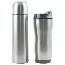 NEW Thermo Perfect 2 Pc Stainless Steel Thermal Coffee Set Vacuum Bottle+Tumbler