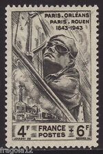 FRANCE 1944 - CENTENARIO FERROVIA PARIGI-ORLEANS - TRAIN - F. 4 - MNH