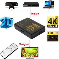 Ultra 3D 1080P HD 4K x 2K HDMI Switch 3x1 3 Port Switcher Selector w/ IR Remote